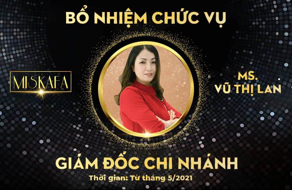 Bổ nhiệm giám đốc chi nhánh ms Vũ Thị Lan